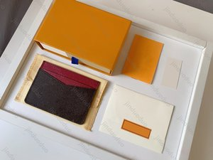 Top quality Genuine Leather Purse Holder Luxurys Designer Wallet Fashion handbag Women's Coin Card Holders Black Lambskin Mini Key Pocket Interior Slot men wallets
