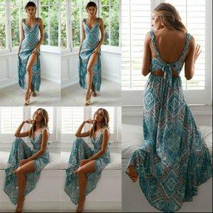 Bohemian Hot Women Summer V Neck Boho Long Maxi Dress Night Club Party Beach Sundress New Fashion Female Long Dress