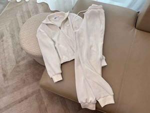 Vestito da donna 21SS Classico femminile Top + Pantaloni High Street Element Sport Set Womens Slim Felpa con cappuccio 2 colori Disponibile Dimensioni S-L