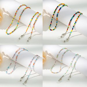 New Anti-Lost Eyeglass Strap Beaded Mask Chain Fashion Reading Glasses Sunglasses Spectacles Holder Neck Cord