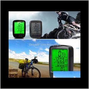 New Waterproof Lcd Display Cycling Bike Bicycle Computer Odometer Speedometer With Green Backlight O79Lo Gk7Wm