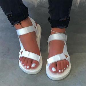 LaNew Summer Women Sandals Flat Buckle Strap Shoes Ladies Platform Outdoor Casual Beach Slides Womens Plus Size Footwear 35-43