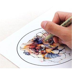 Pigment Liner Micron Pen Neelde Weiche Bürsten Zeichnung Stift Los 005 01 02 03 04 05 08 1.0 Pinsel Art Marker F Jllkpl