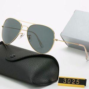 Venta caliente moda diseñadora clásico gafas de sol marca vintage piloto gafas de sol polarizado UV400 hombres mujeres 58mm Lentes de vidrio