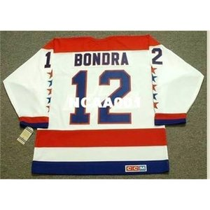 668s #12 PETER BONDRA Washington Capitals 1990 CCM Vintage Home Hockey Jersey or custom any name or number retro Jersey