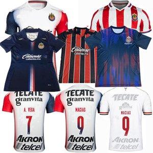 2019 2020 2021 Guadalajara Futebol Jerseys Chivas Regal Macias I.Brizuela A.Vega Home 3rd 20 21 Homens de Futebol Camisa Mulheres S-4XL