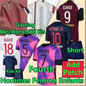 PSG Camiseta de fútbol 20 21 paris saint germain camisetas 2020 2021 MBAPPE NEYMAR JR ICARDI hombres + kit de niños maillot de foot 4th de la soccer jerseys chándal de fútbol