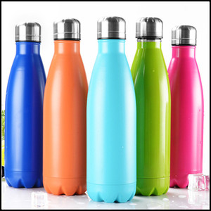 NEW Cola Shaped Water bottle Insulated Double Wall Vacuum Heath-safety BPA Free Stainless Steel high-luminance Thermos bottle 500ML