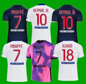 PSG Camiseta de fútbol 20 21 paris saint germain camisetas 2020 2021 MBAPPE NEYMAR JR ICARDI hombres + de maillot de foot 4th de la soccer jerseys chandal