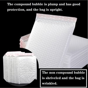 Pouch film bubble envelope bag white composite document garment express packaging bag waterproof thickening packaging foam bag 17*21+4cm
