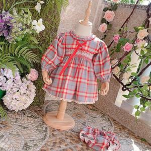 Miayii Baby Kleidung Spanische Lolita Bogen Plaid Langarm Nette Ballkleid Geburtstagsfeier Ostern Prinzessin Kleid Für Mädchen Y3801