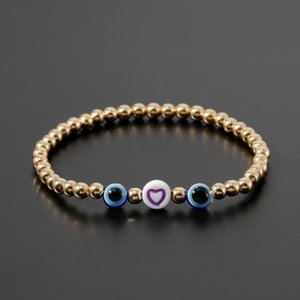 Rttooas Evil Eye Bracelet Simple Turkish Evil Eye Tiny Bracelets For Women Metal Plating Beaded Bracelets Friendship Gifts