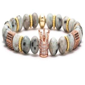 8mm cubique or argent cuivre couronne oneyx zirconia cz volcanique xg453 micro bracelet noire lave impériale pave zircon bracelets hrspg