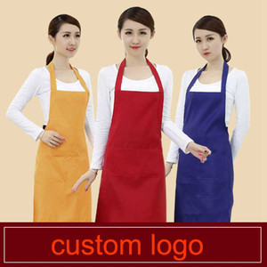 Cooking Baking Apron Reusable Convenient Solid Color Apron Kitchen Restaurant Work Pinafore Women Home Sleeveless Apron DHA3857