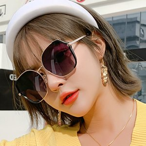 2020 Korean Fashion New Men's and Women's Round Face Small Metal Frame Sunglasses