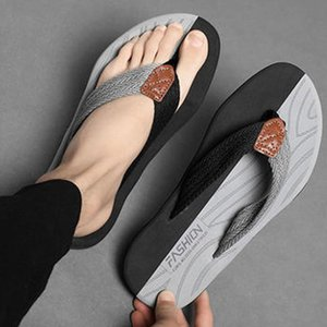 High Quality Men's Thong Flip Flops Summer Sandals Shoes for Men Fashion Anti-Slip Slippers Outdoor Casual Beach Shoes Size 47 210225