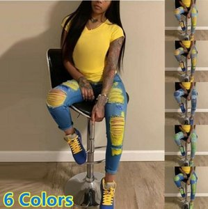 Women's Jeans Women High Waist Stright Pant Hollow Out Streetwear Fashion Female Denim Ripped Casual Lady