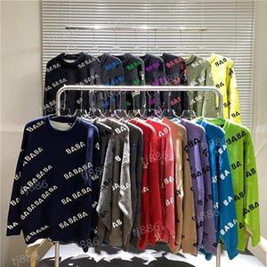 Дизайнерский свитер мужчины женщины старший классический досуг многоцветный осень зима Сохраняйте теплые удобные 17 видов выбора Top1 высокое качество