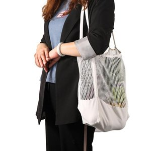 Transparent Weight Handbag Beach Clear For Light Big Bag Tote Shoulder Mesh Shopping Storage Nylon Shopper Women Stsie