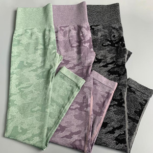 NEPOAGYMY NEPOAGYMY Femmes 2e édition Camo Jambières sans couture Camo Taille High Taille Leggings Scrunch Yoga Pants Pantalons de compression Femmes
