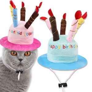 Dog Apparel Cosplay Birthday Cake Party Costume Headwear Accessory Pet Cap Headdress Cat Hat Beanies