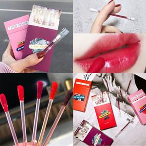 5 Style Choose!20pcs set Liquid Lipstick Cigarette Case Cotton Swab Lipsticks Long Lasting Waterproof Disposable Lip Gloss Lipstick Makeup