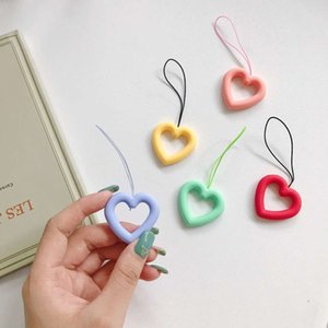 New silicone mobile phone cartoon ring doll hanging rope small pendant