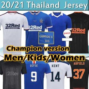 Glasgow Rangers Champions 55 Version Soccer Jerseys 2021 DEFOE MORELOS KENT ARIBO ARFIELD 20 21 Men Women Kids Kits football jersey