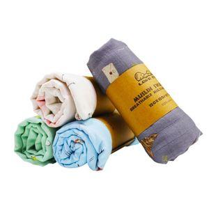 Infant Muslin Blanket Animal Baby Swaddle Baby Newborn Bathroom Towels Robes Infant Swadding Muslin Swaddle 120*120CM ZYY712