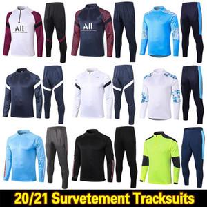 2020 2021 Real Madrid Men Футбол для футбольных костюмов 20 21 Marseille Paris MBappe Sureetement Surch Touchsuit Maillots De Foot Chandal Kit New