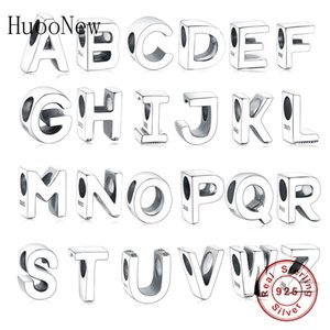 Huoonew Fit Pandora Charms Bracelet 925 Sterling Silver Alfabeto letra A-Z Beads Kralen para la fabricación de joyas Berloque Q0225