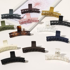 Updo Solid Color Hair Clamps Frosting Jaw Clips Girls Simplicity Versatile Arc Hairs Claw Clip Fashion Accessories