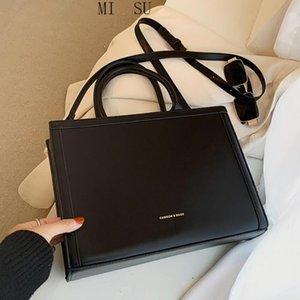 Cross Body Color Color Cars Tote Bag 2021 Мода Качество ПУ кожаная женская дизайнерская сумка высокой емкости через плечо
