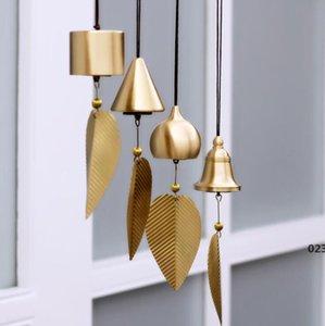 Pure Pure Copper Wind Bell Pendentif Exquis Creative Home Balcon Chambre à coucher Vent Bell Connexion Pendentif Anniversaire Fournitures Fournitures Fête Fête Fête EWB5049