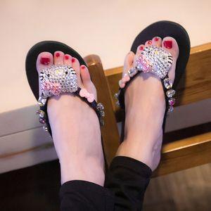 Woman Slippers Summer Beach Sandals Sexy Outdoor Shoes Pink Pretty Flip-Flops Bling Slides 2020