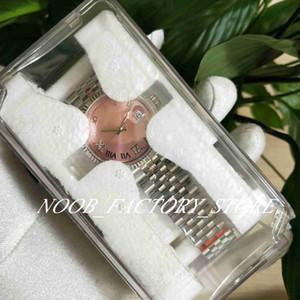 Super BP Factory Watches sales pink diamond Dial 36MM 904L Original Strap 2813 Automatic Mechanical Movement Women Watch gift Plastic Box