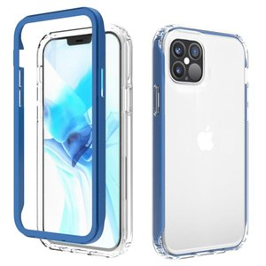 2 in 1 PC TPU Shockproof Case For iPhone 12 Mini Pro 11 Pro Max Xs Xr For Google 4A 5G Pixel 5 Galaxy S20 FE For LG Velvet Mobile Phone Case