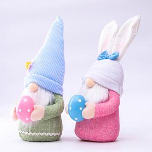 Пасхальный кролик гном безликий кролик карликовая кукла пасхальный плюш кролик карликовый праздник праздник столовые украшения ребенка игрушка