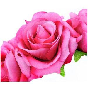 7cm cor-de-rosa noiva flor floração cocar mulheres casamento faixa de cabelo estúdio estúdio estúdio flor flirlcrom