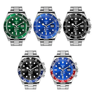 AW12 Smart Watch New Design Fashion Classic Men Stainless Steel watches Muli function IP68 Waterproof Bluetooth 5.0 Wristwatch Green Ghost