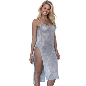 Maillots de bain pour femmes maillots de bain robe sur maillot de bain femme maillot de bain pour femmes robes de plage 2021 vêtements creux tricotés coton