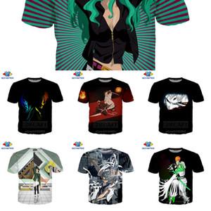 Bleach T shirt Sonspee Casual 3D Imprimer Femmes Anime T-shirt Hommes Sweat Sweat-shirt Unisexe Hip Hop Streetwear Tops O Couleur Pull C111-8 L0223