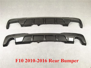 New 2 Styles Double Sides Carbon Pattern Car Rear Bumper Lip Spoiler For B-MW 5 Series F10 MP Style 2010-2016 Rear Diffuser