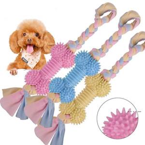 الحيوانات الأليفة القطن عقدة حبل الكلب المولي عصا العظام نوع لدغة مقاومة جرو التفاعلية tpr التدريب تنظيف الأسنان لدغة اللعب EWA4063