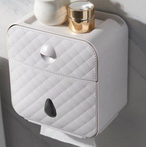 Tuvalet Rulo Tutucu Su Geçirmez Kağıt Havlu Tutucu Duvara Monte WC Rulo Kağıt Standı Durumda Tüp Saklama Kutusu Banyo Aksesuarları 71 S2