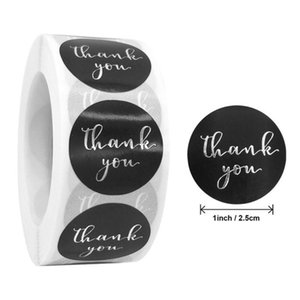 500pcs Thank You Stickers Gold Silver Foil Seal Label for Small Shop Wedding Gift Package Envelope Stationery Sticker