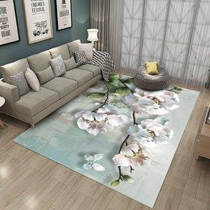 3D Rose Flower Design Tapis Flore Flanelle Zone Tapis Chambre Chambre à coucher Chambre à coucher Chambre à coucher Décoration Match