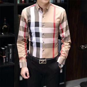Luxurys Designers Habilla Chemise Menswear Fashion Society Black Homme Chemise Solid Couleur Entreprise Chemises occasionnelles Mens manches à manches longues M-3XL # 01
