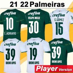 21 22 Palmeiras Soccer Jersey Home Green Dudu G.Jesus B. هنريك ألكساندرو 2021 2022 رجل بالغ رجل ورجال كرة القدم