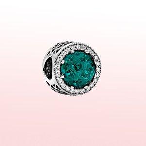 925Silver Shining Seaweed Green Charm Fit Original Pandora Bracelet&Bangle Making Fashion DIY Jewelry For Women